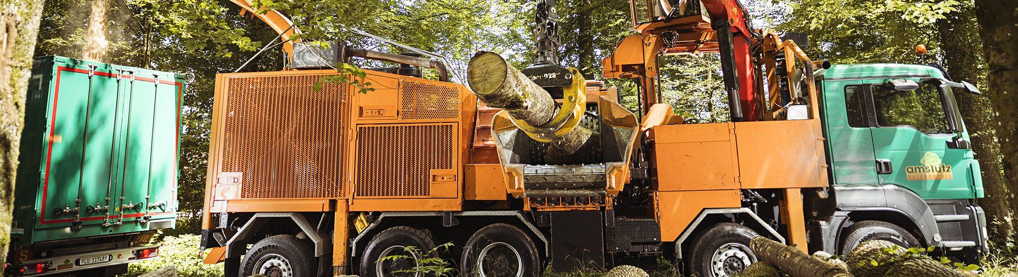 Amstutz Holzenergie AG, Emmen, Maschinenpark