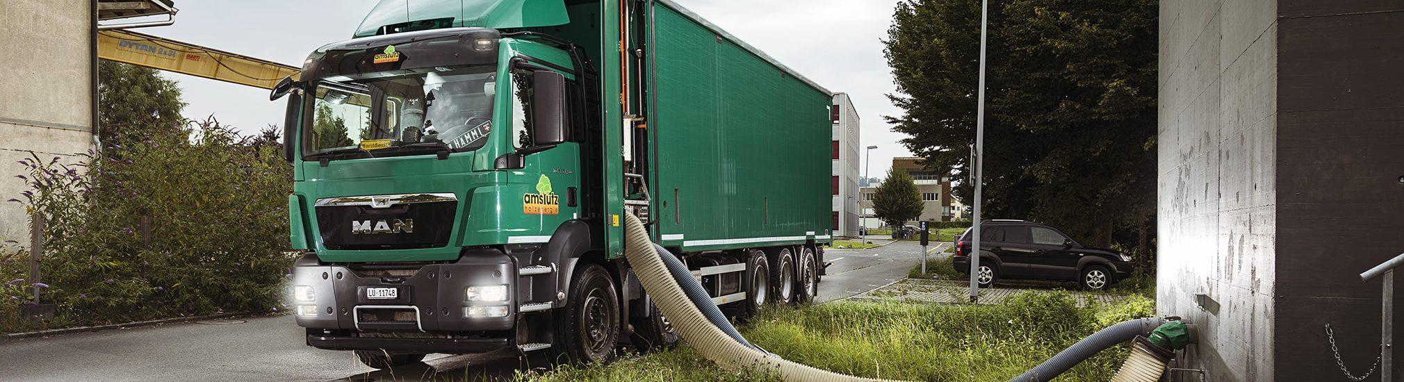 Amstutz Holzenergie AG, Emmen, Maschinenpark, heizungsanlage, Logistik