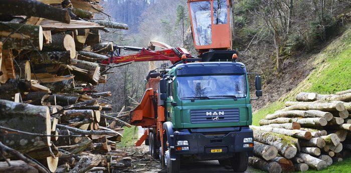 Amstutz Holzenergie AG, Emmen, Holzenergie, Maschinenpark, Hackmaschinen