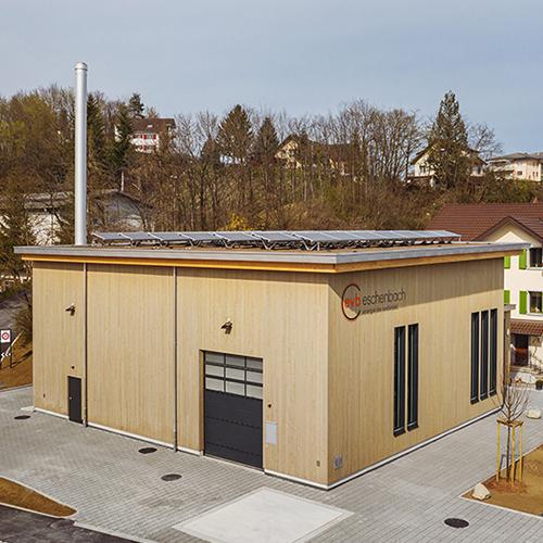 Amstutz Holzenergie AG, Emmen, Heizanlage, Nachhaltige Energie, Heizen mit Holz, Fernwärme, Eschenbach